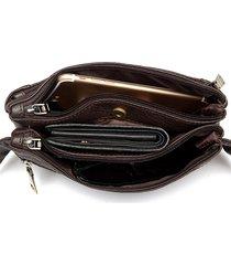 borsa in vaschetta multiuso tasca borsa in pelle di cuoio genuino borsa da crociera adatta per gli uomini
