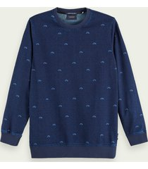 scotch & soda sweater met lange mouwen van een katoenmix met stretch
