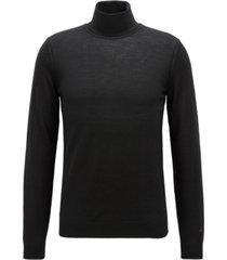 boss men's turtleneck merino wool sweater