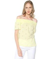 blusa amarillo vero moda
