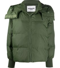 essentiel antwerp hooded padded jacket - green
