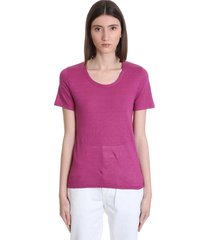 isabel marant étoile kiliann t-shirt in rose-pink linen