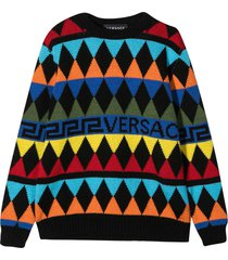 young versace multicolor sweater