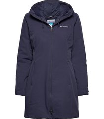 autumn rise mid jacket parka lange jas jas blauw columbia