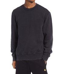 men's carhartt work in progress men's mosby sweatshirt, size x-large - black