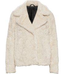 stina outerwear faux fur crème tiger of sweden jeans