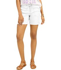 style & co petite knit waistband shorts, created for macy's