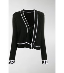 y/project asymmetric ribbed knit cardigan