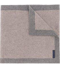 eredi chiarini two-tone knit scarf - grey
