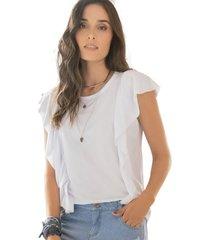 camiseta adulto femenino blanco rutta