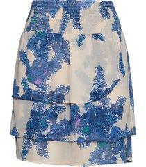 skirt w. smock at waist and frills kort kjol blå coster copenhagen
