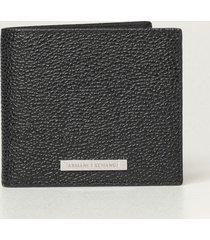 armani collezioni armani exchange wallet armani exchange wallet in textured leather