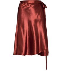 inger johanne knälång kjol brun fall winter spring summer
