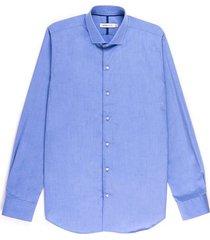 camisa business casual de textura regular fit para hombre 94717