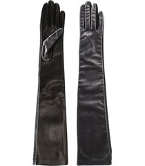 manokhi long-length gloves - grey