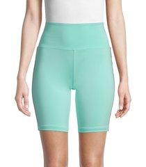 women's kappa x juicy couture logo-tape biker shorts - green - size xl