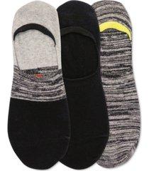 hot sox men's 3-pk. color block sneaker liner socks