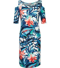 jurk alba moda blauw/multicolor