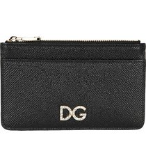 dolce & gabbana dauphine leather card holder