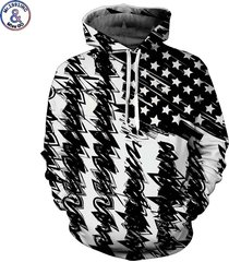 new fashion hooded sweatshirt men/women hooded hoodies 3d print black white usa