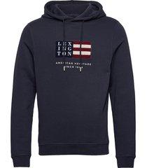 perry organic cotton hood hoodie trui blauw lexington clothing