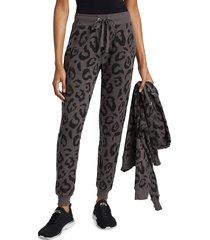 chrldr women's big leopard sweatpants - vintage black - size s