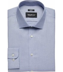 awearness kenneth cole men's navy check slim fit dress shirt - size: 16 1/2 34/35