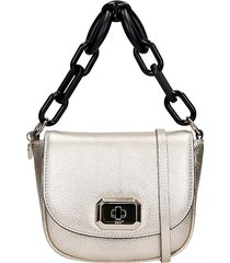 red valentino shoulder bag in gold leather