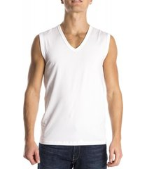 mey sleeveless shirt organic white ( 48737)
