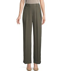 high-rise draped trousers