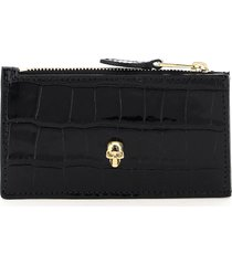 alexander mcqueen skull card holder pouch