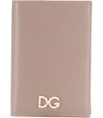 dolce & gabbana vertical foldover wallet - neutrals