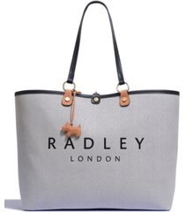 radley london addison gardens medium open top tote