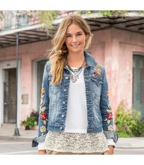 driftwood jeans blossoms & blues jacket