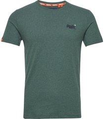 ol vintage embroidery tee t-shirts short-sleeved grön superdry