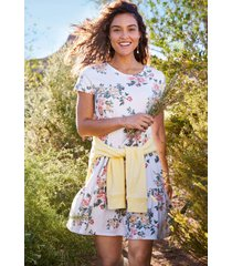 maurices womens 24/7 white floral tiered babydoll mini dress