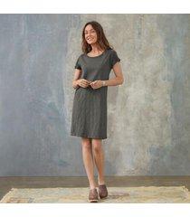 sundance catalog women's jane t-shirt dress in carbon large