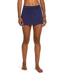 women's l.l. bean sport skirted bikini bottoms, size 6 - blue