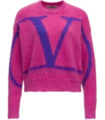 mohair sweater with logo