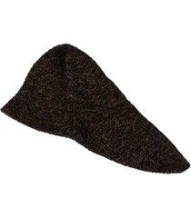 uma wang chapéu assimétrico - preto