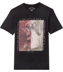 camiseta john john rg double pic malha algodão preto masculina (preto, gg)