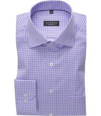 overhemd paars geprint ml 7 eterna comfort fit