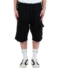 travel pique shorts - black