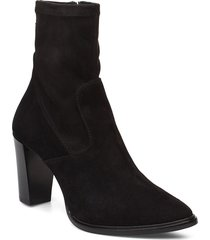 booties 3395 shoes boots ankle boots ankle boots with heel svart billi bi