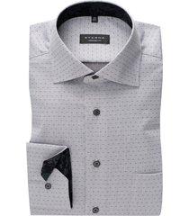 grijs gestipt overhemd eterna comfort fit