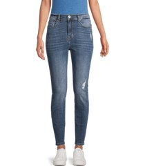 c & c california women's high-rise ankle skinny jeans - imperial blue - size 10