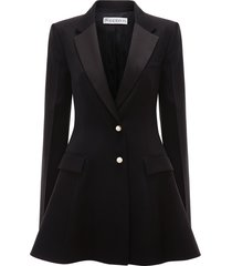 jw anderson peplum back tuxedo jacket - black
