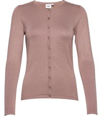 a8661, l/s cardigan r-neck stickad tröja cardigan rosa saint tropez