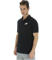 camisa polo nike sportswear pq matchup - masculina - preto