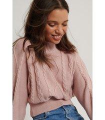 lisa-marie schiffner x na-kd ekologisk stickad tröja - pink